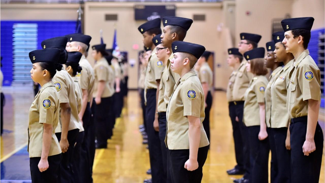 Chambersburg Area Senior High School's NJROTC cadets took part in the annual pass-in-review on Wednesday, March 6.