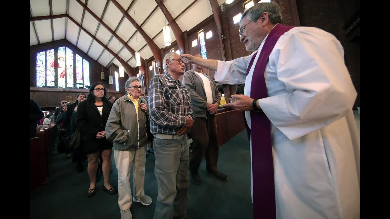 Ash Wednesday is the start of the Lenten season for Catholic faithful. St. Joseph's held several services Wednesday.