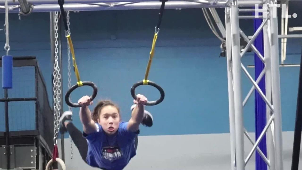 Sophie Shaft - an American Ninja Warrior Junior works out in Plymouth. The fourteen year-old recently went to L.A. to compete on NBC's show.