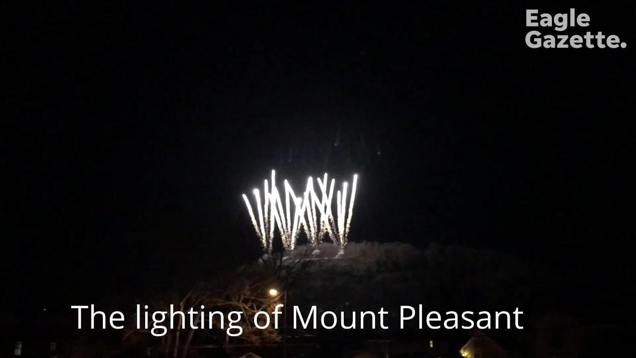 Mount Pleasant was lit up on Wednesday evening for the first time.