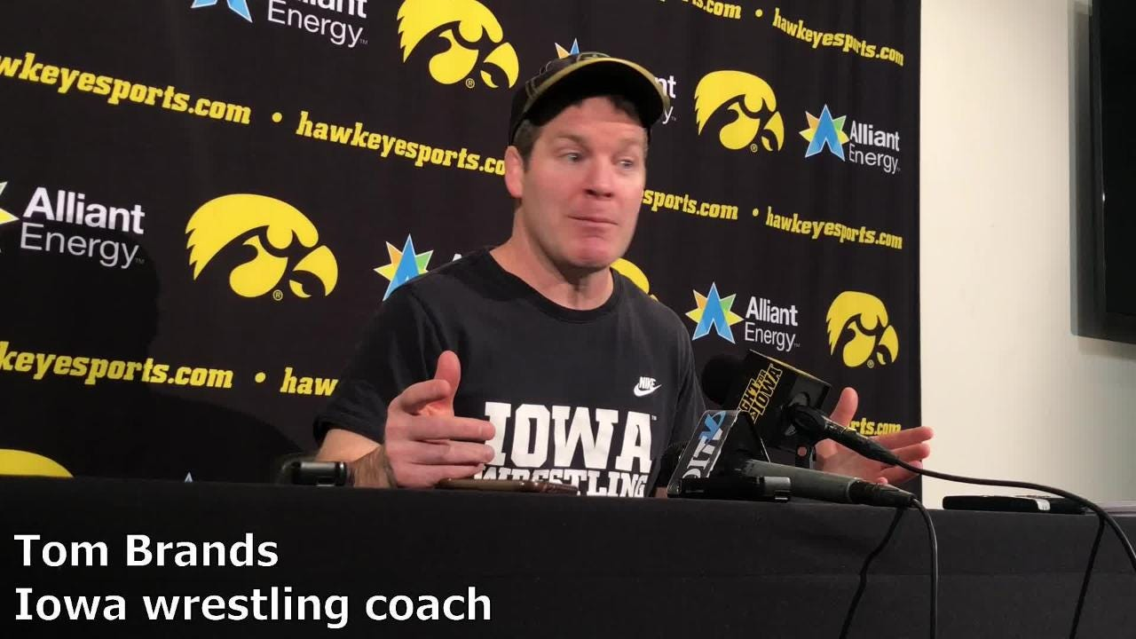 Iowa coach Tom Brands discusses Spencer Lee and his loss to Oklahoma State's Nick Piccininni and how he moved forward.