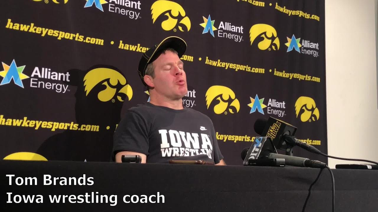 Iowa wrestling coach Tom Brands discusses his team's mindset ahead of the 2019 Big Ten Championships.