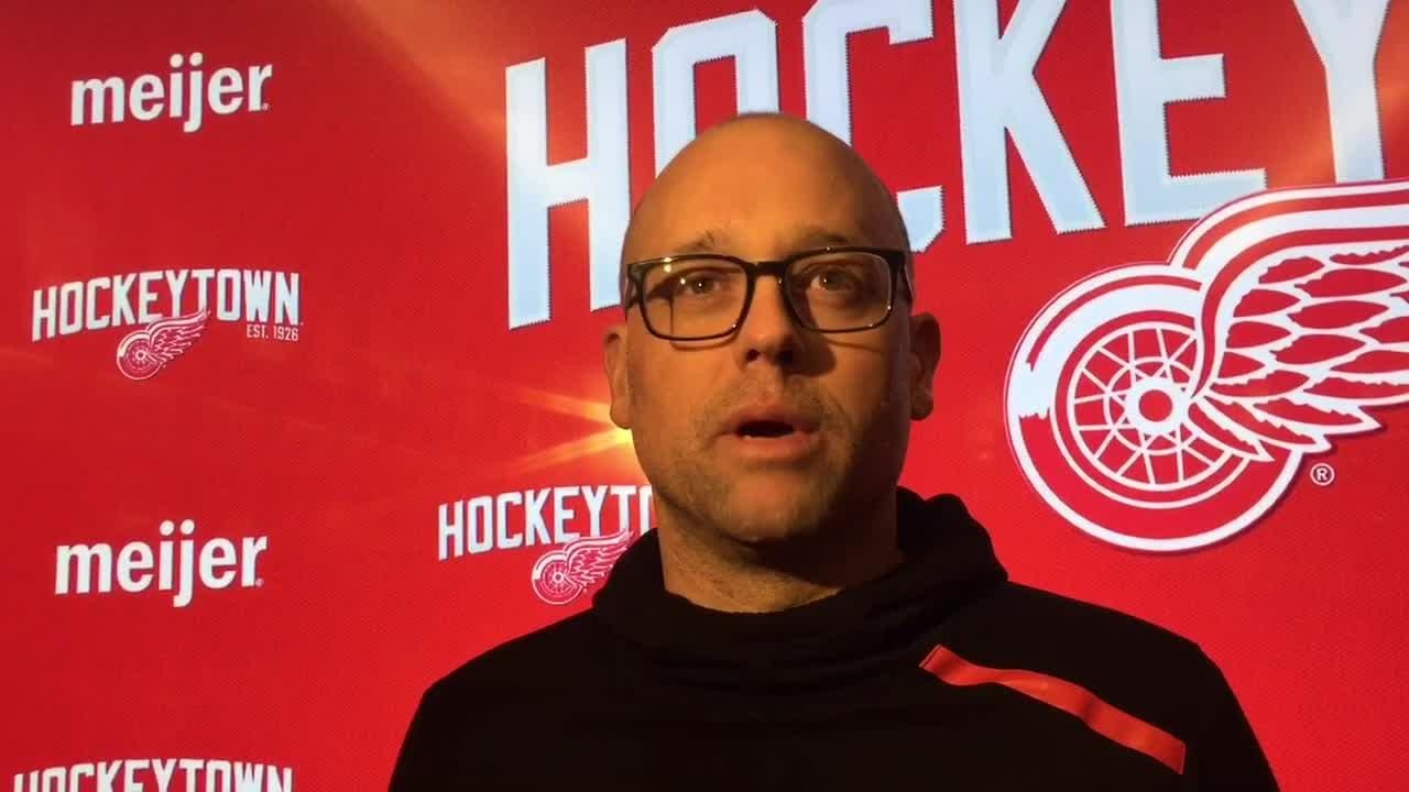 The Wings face a stretch without Dylan Larkin, Mike Green. Filmed March 7, 2019 in Detroit.