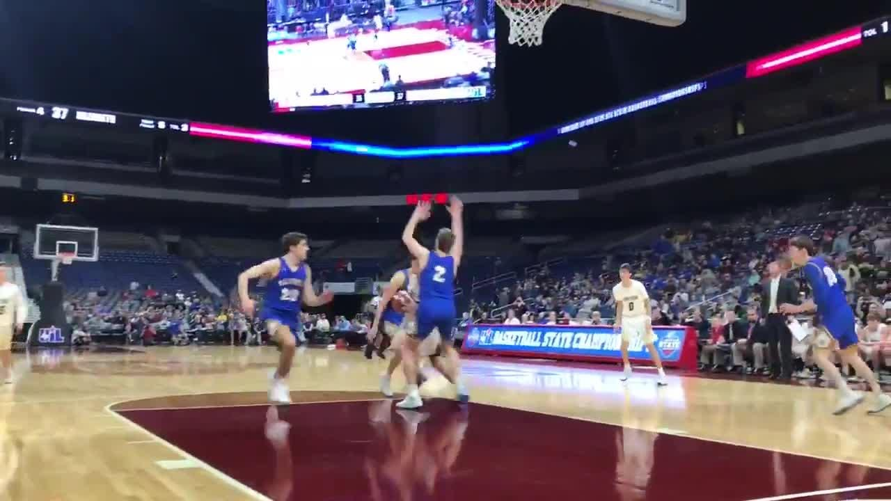 Winning shot by Jayton over Nazareth, 38-37 in UIL state boys basketball tournament on Thursday, March 7, 2019