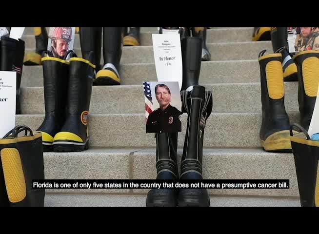 Firefighters Marching At Capitol >> Firefighters Families Rally For Cancer Coverage At Florida Capitol