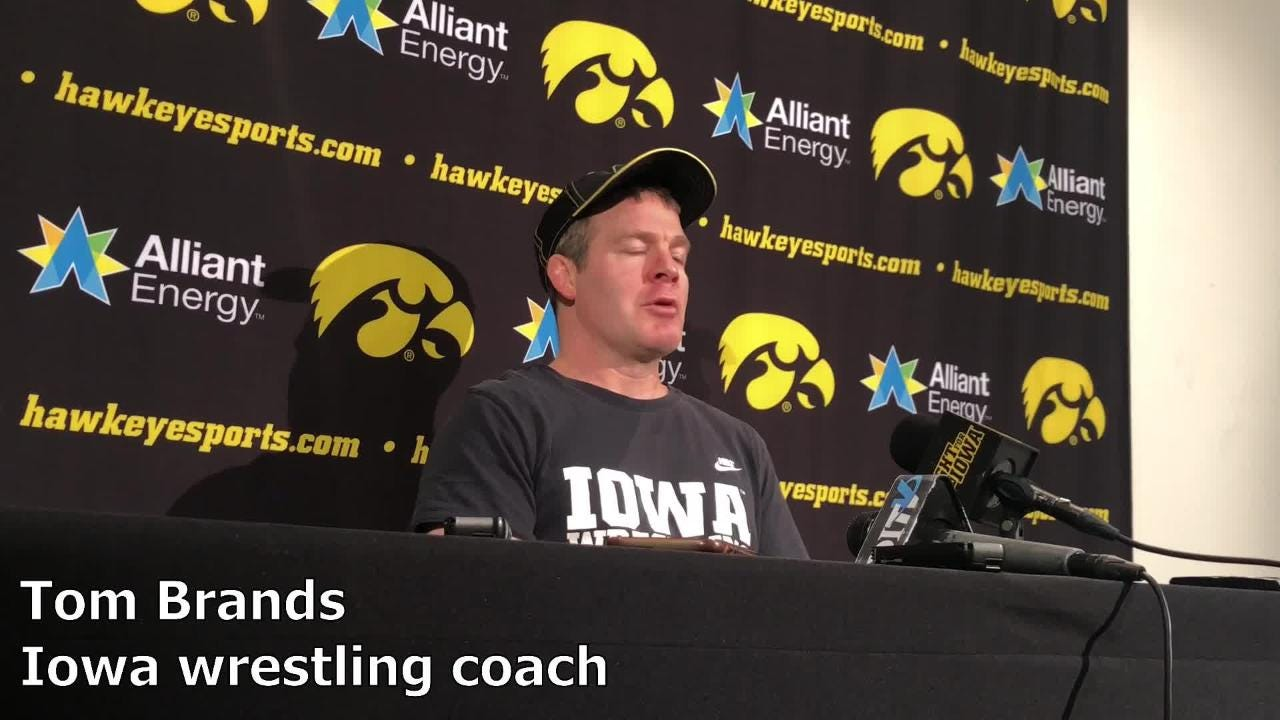 Iowa coach Tom Brands discusses the Big Ten scheduling and why the Hawkeyes are excited to see Penn State, Ohio State and Michigan at the Big Ten tournament.