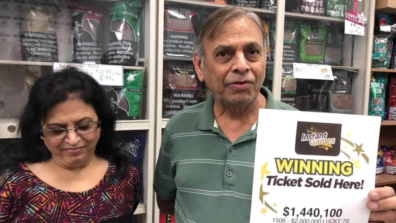 A $2 million winning lottery scratch-off ticket was sold Wednesday at Todd's News Agency in Vineland, NJ