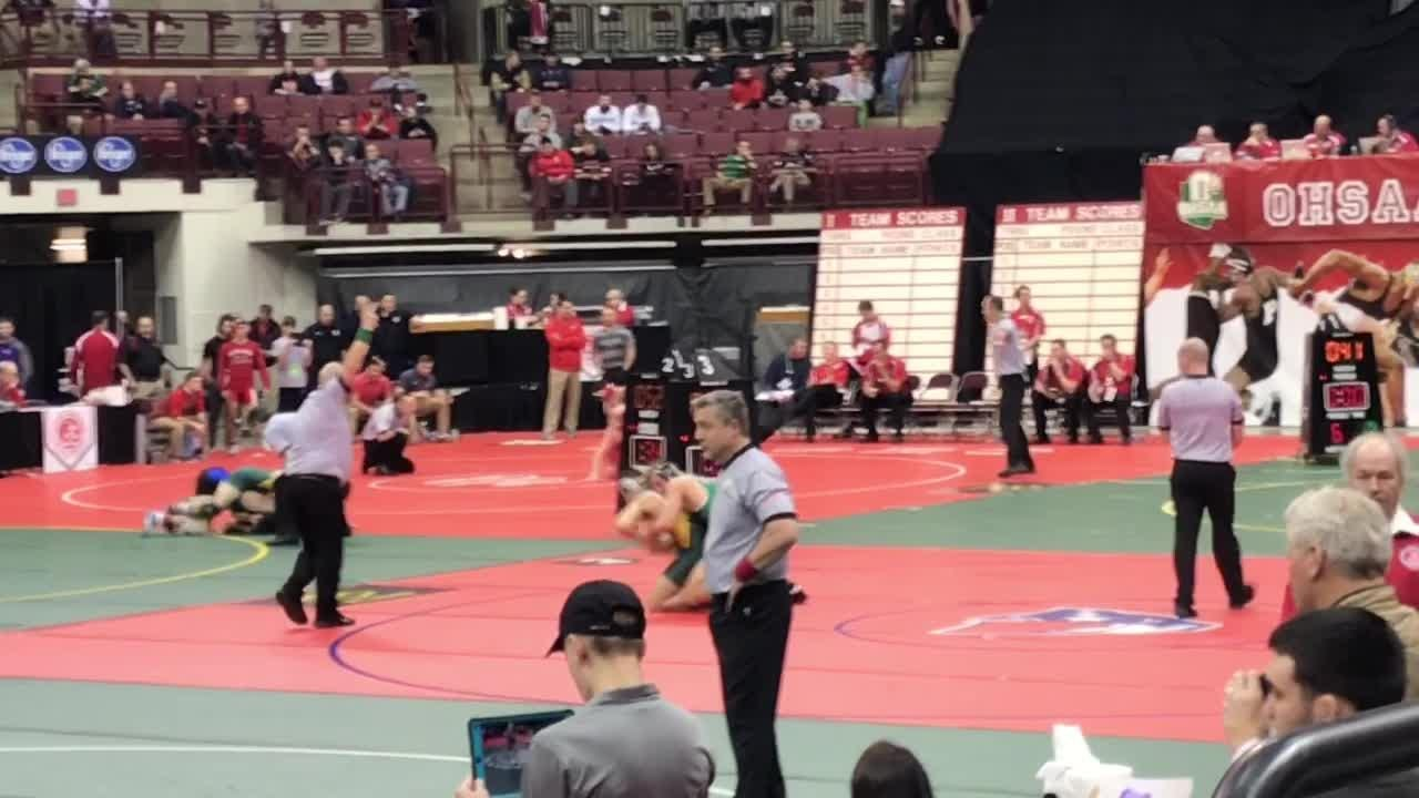 Northridge's Klay Reeves and Newark Catholic's J.T. Brown and Liam Kirkpatrick won first-round matches during the Division III state tournament.