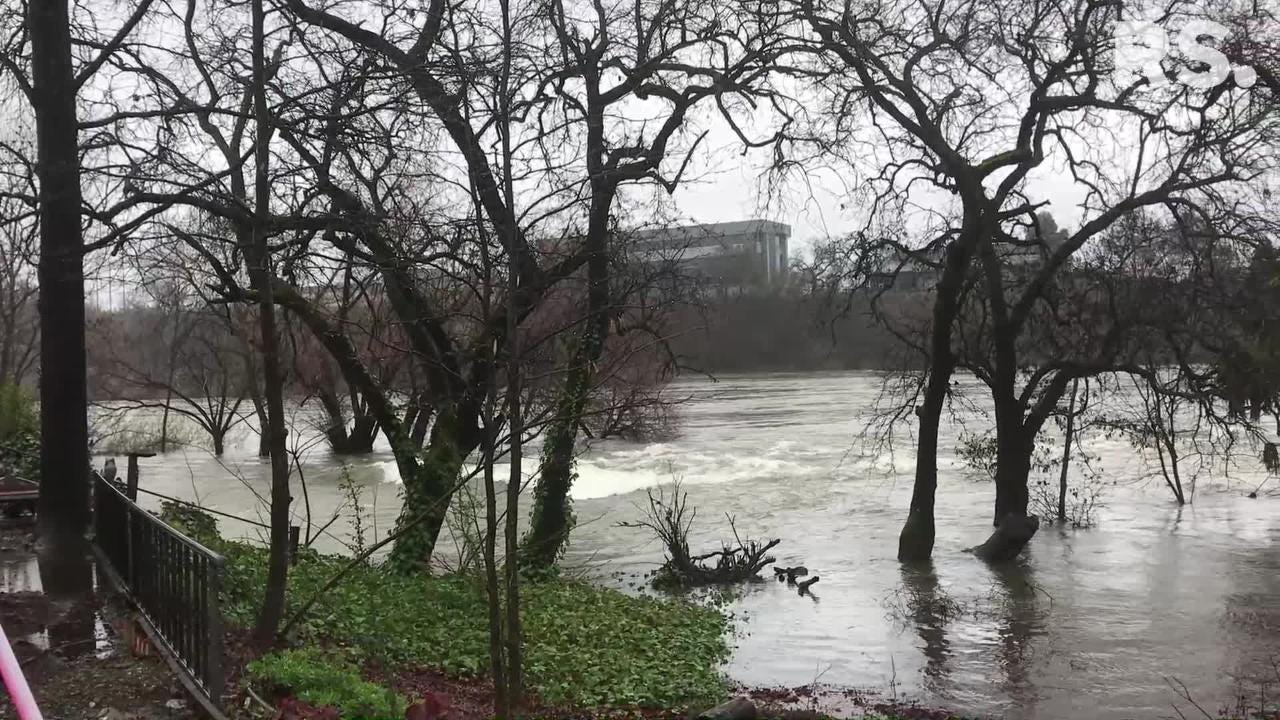 With more water being released from Shasta Dam, the Sacramento River through Redding was moving fast on Thursday, March 7, 2019.