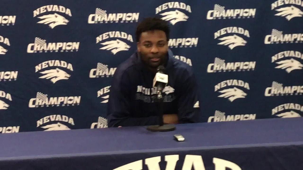 Nevada's Jordan Caroline discusses playing his final game at Lawlor Events Center.