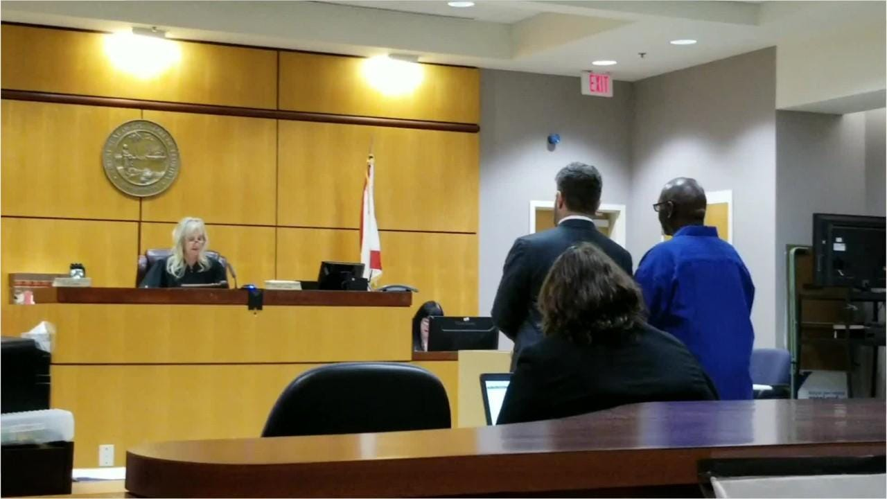 Willie Shorter, flanked by his attorney Daniel Martinez, made his first appearance in court Thursday. Shorter is accused of impregnating a woman under his care at a group home in Rockledge.