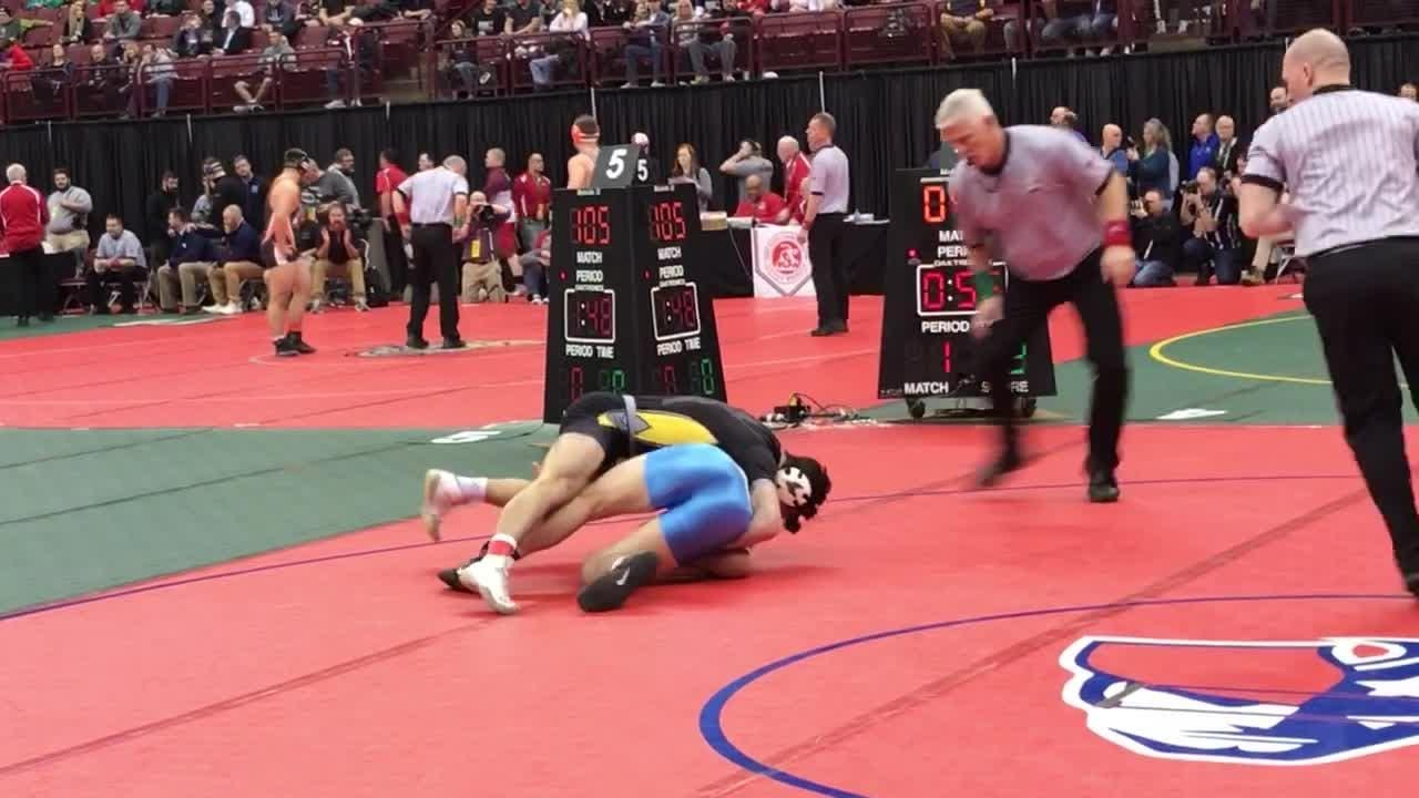 Quick pin for Northmor state title hopeful Conor Becker
