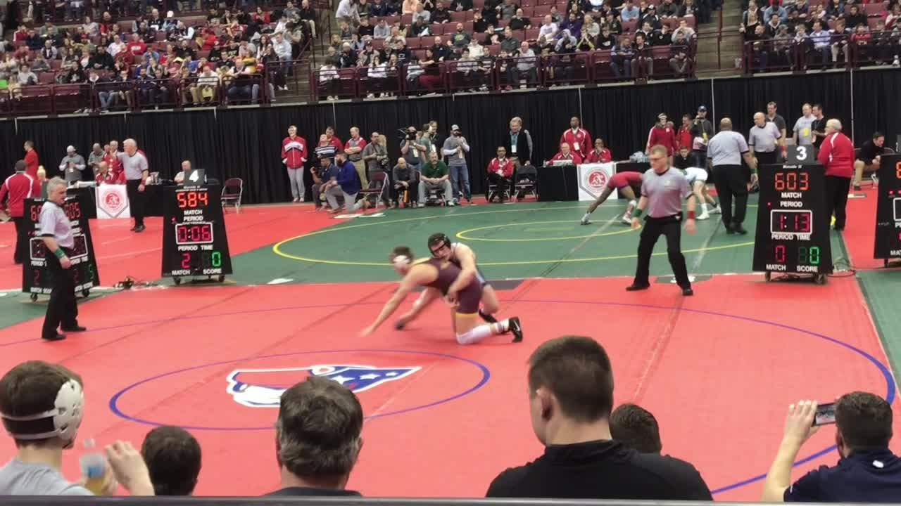 Douglas Terry and Keegan Van Meter advanced to the Division II semifinals Friday morning, ensuring Granville two placers for the first time.