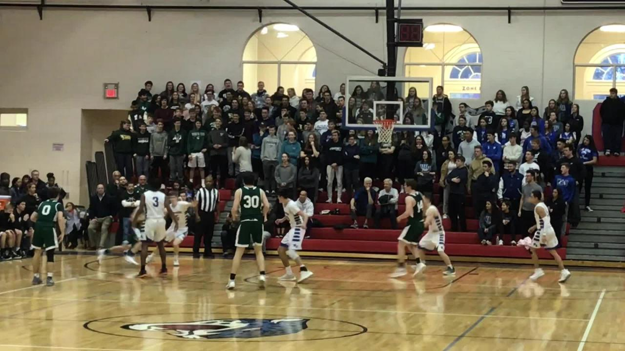 The New Providence boys basketball team advanced to the Group I final with a 62-43 win over Wood-Ridge on March 7, 2019.