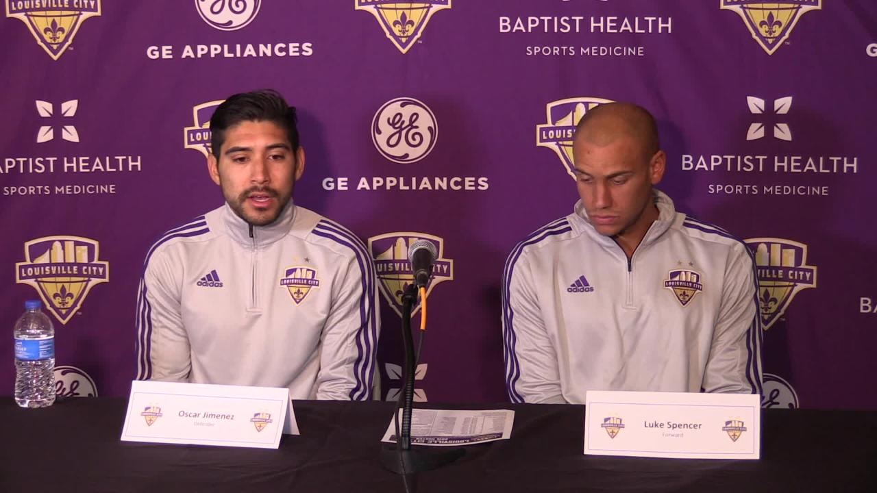 Louisville City FC's Oscar Jimenez and Luke Spencer talk about 2019