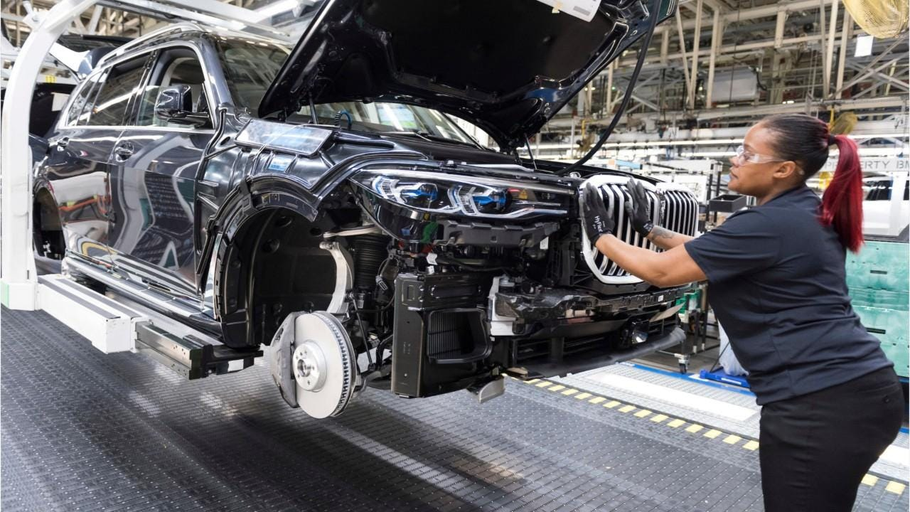 Despite a decline in production in 2018, BMW Manufacturing in Spartanburg has led the nation in automotive exports by value for the 5th year in a row
