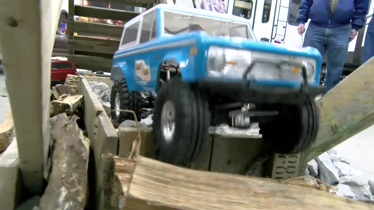 Blue Rocks Family Campground brought their unique, rentable 4x4 remote-controlled cars to the York RV Show. The show runs from March 8-10 at the York Expo Center.