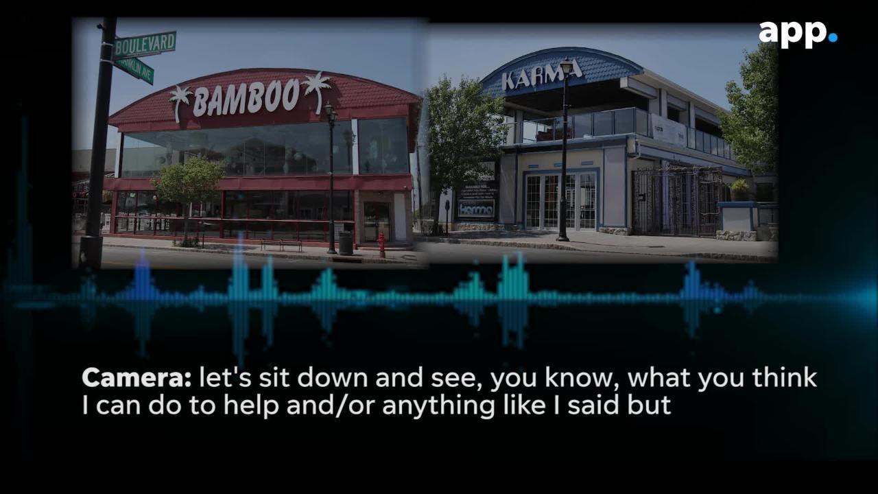 The video contains a phone conversation between Bamboo Bar and Karma operator John Saddy and former Seaside Heights Borough Administrator John Camera.