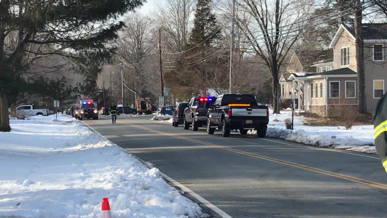 Six students were treated for minor injuries when their school bus crashed on Valley Road in Boonton Township after school. March 8, 2019.