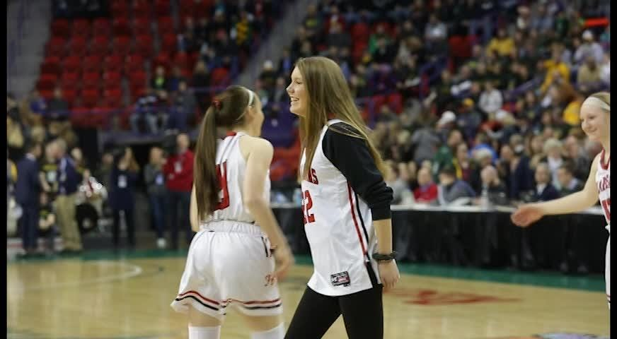 Hortonville senior Emily Nelson reflects on her time with the basketball program after the team's 68-48 loss in the Division 2 state semifinal.