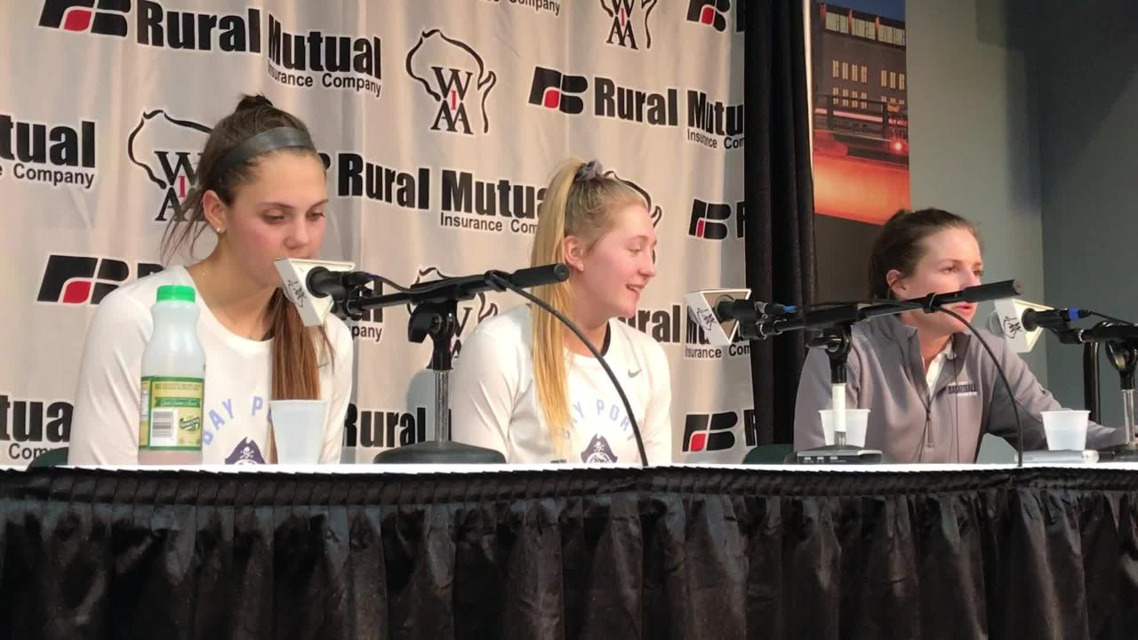 Bay Port coach Kati Coleman talks about the Pirates' WIAA Division 1 state semifinal victory