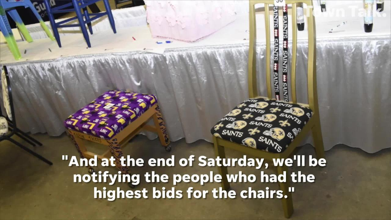 """The Greater Central Louisiana Realtors Association decided to help homeless veterans in the community by hosting a """"chair-ity"""" auction."""