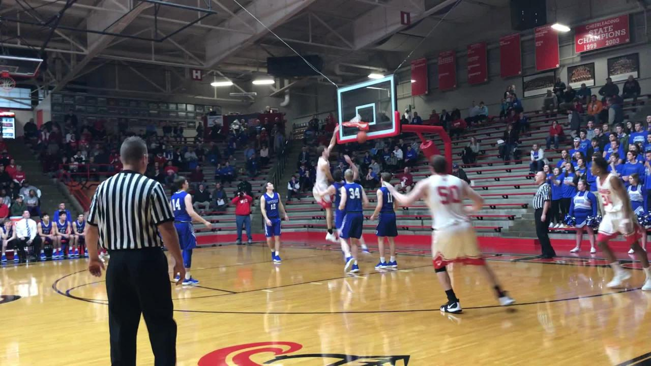 Matt Dove had two dunks in Princeton's overtime victory over Batesville in Class 3A Southridge Regional semifinals
