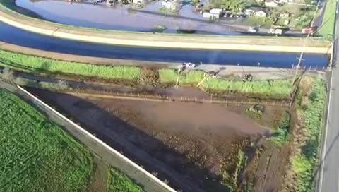 A Tulare County Sheriff's Department Drone took footage of where the leak originated, which is near the pumps. It's now a pile of dirt.