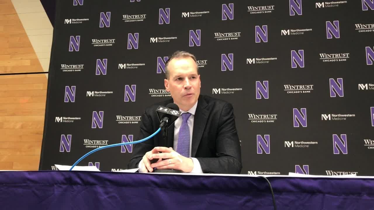 The Northwestern coach's opening statement congratulating Purdue on the Big Ten championship and sending off his seniors.