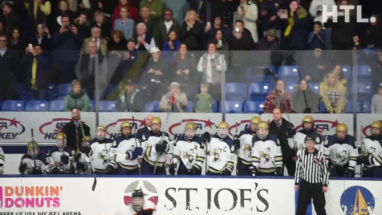 Detroit Country Day wins 2nd straight hockey championship - beating Houghton 4-1 at USA Hockey Arena in Plymouth, MI.