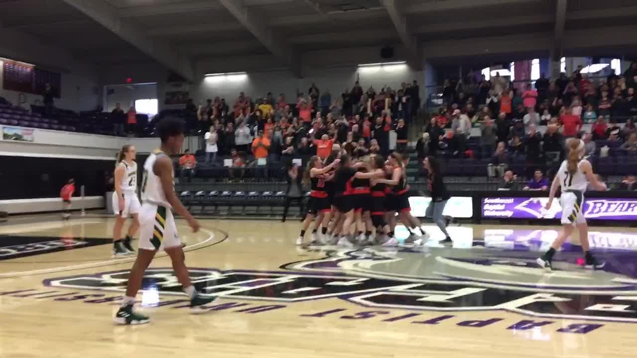 The Republic Lady Tigers hang on to advance to the Class 5 state semifinals with a win over Rock Bridge.