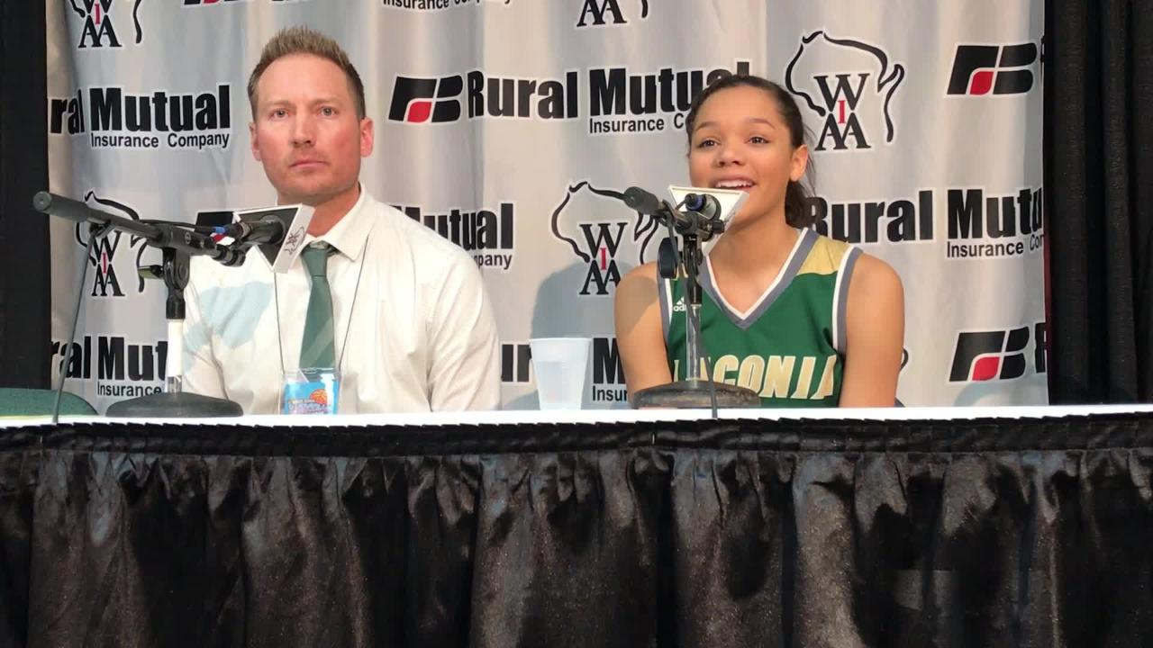 Laconia senior Kiarra Otto reflects on her final high school basketball game after a state final loss to Marshall