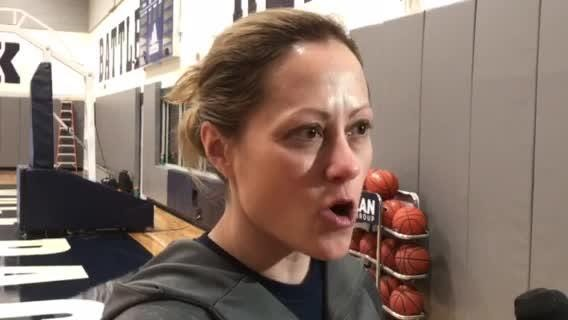 Nevada women's basketball coach Amanda Levens talks about the Mountain West conference tournament. Nevada plays San Jose State on Sunday  in Las Vegas