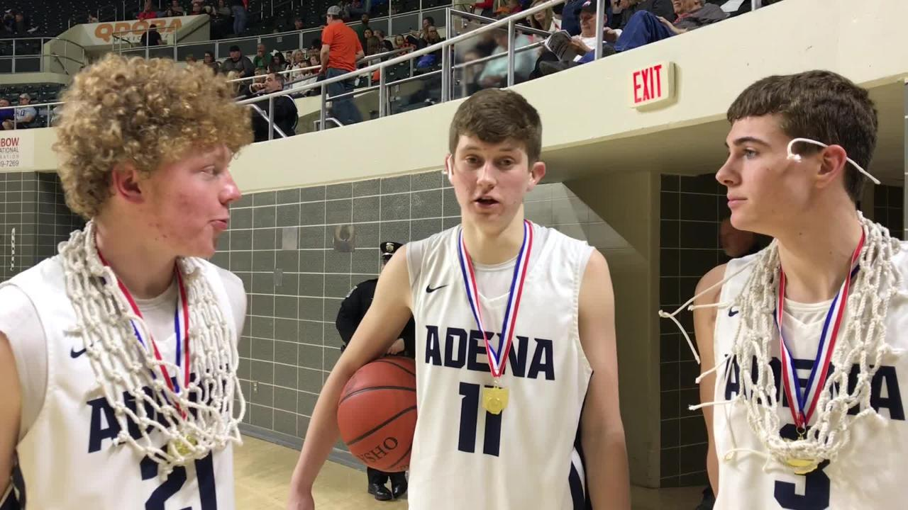 The Adena Warriors won their first district title since 1980 on Saturday. Caleb Foglesong, Logan Bennett, and Zach Fout discuss the win here.