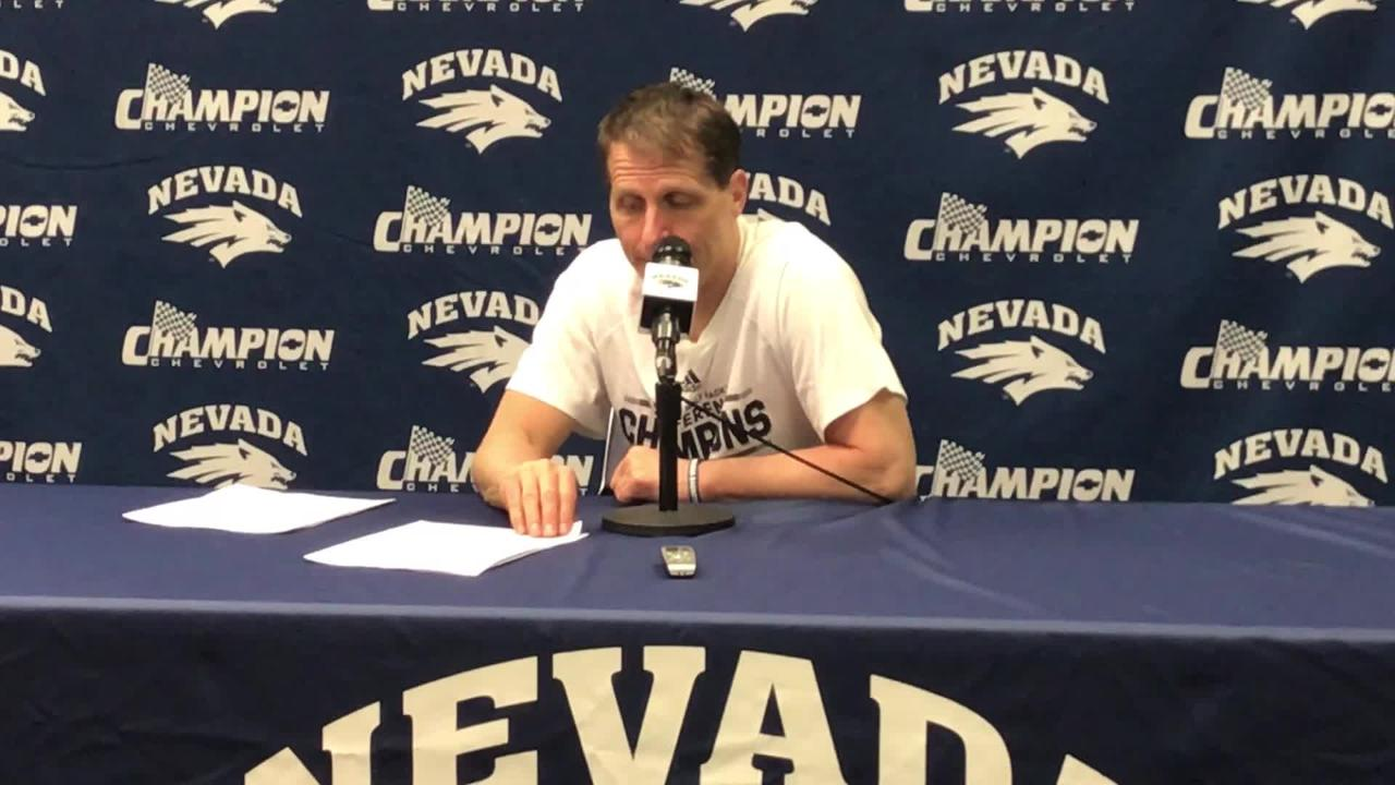 Nevada head coach Eric Musselman discusses winning a Mountain West title and finishing 28-3 in the regular season.