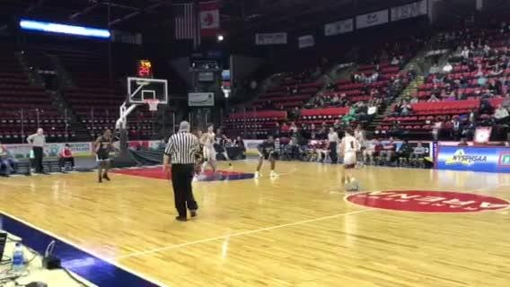Fourth-quarter action from Poughkeepsie's Class A quarterfinal victory over Johnson City on Sunday.