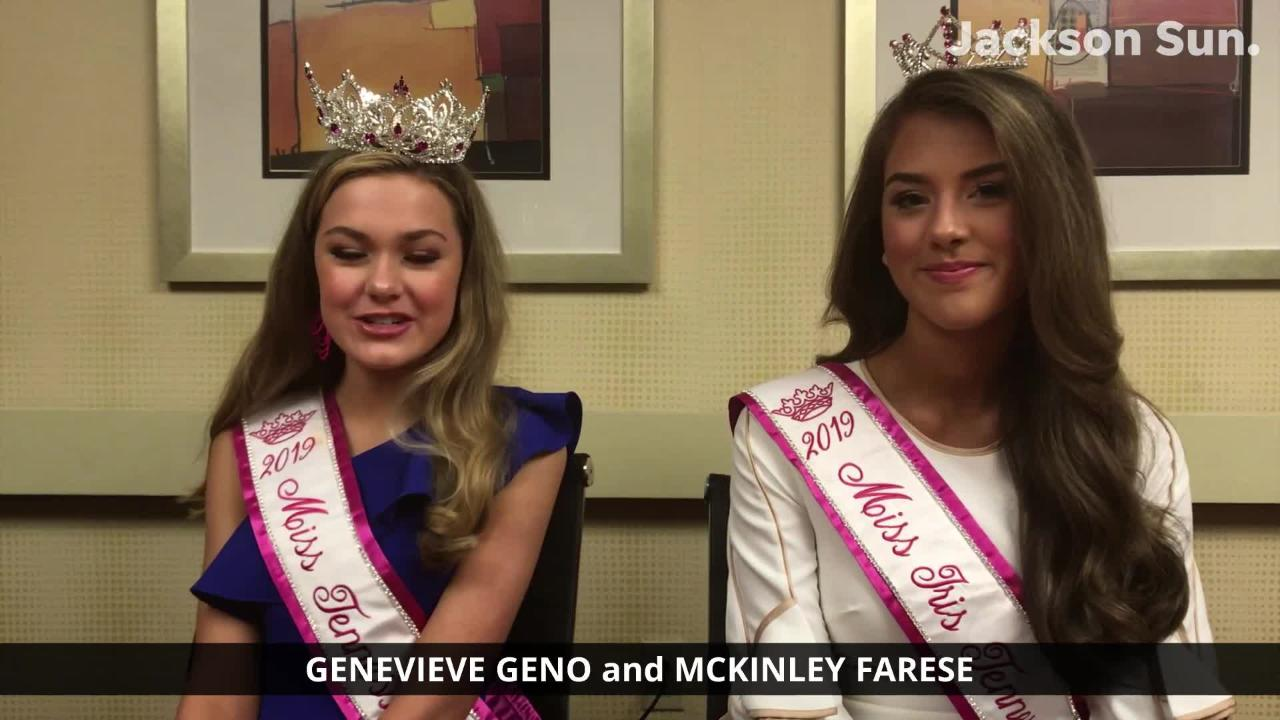 Hear from Genevieve Geno and McKinley Farese after their wins in Jackson at the Miss Teen Tennessee Volunteer pageants over the weekend.
