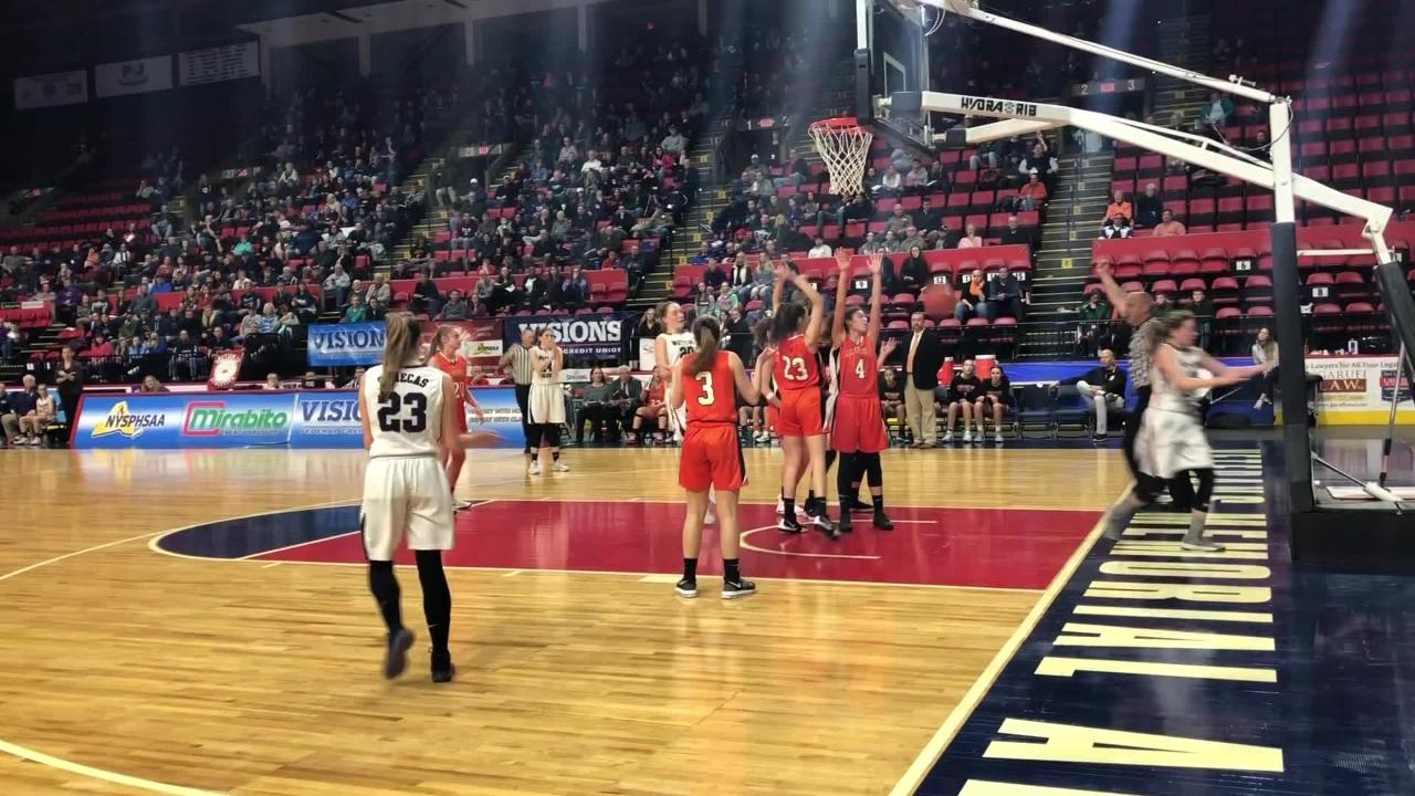 Highlights from the Watkins Glen girls basketball team's 60-49 win over Cooperstown in a Class C state quarterfinal March 10, 2019 in Binghamton.