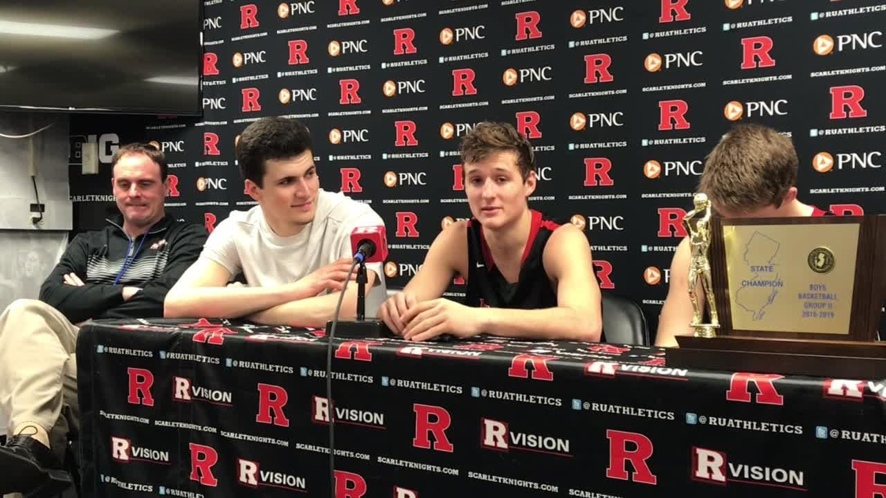 Haddonfield boys basketball beat Newark West Side to win the Group 2 state title at Rutgers