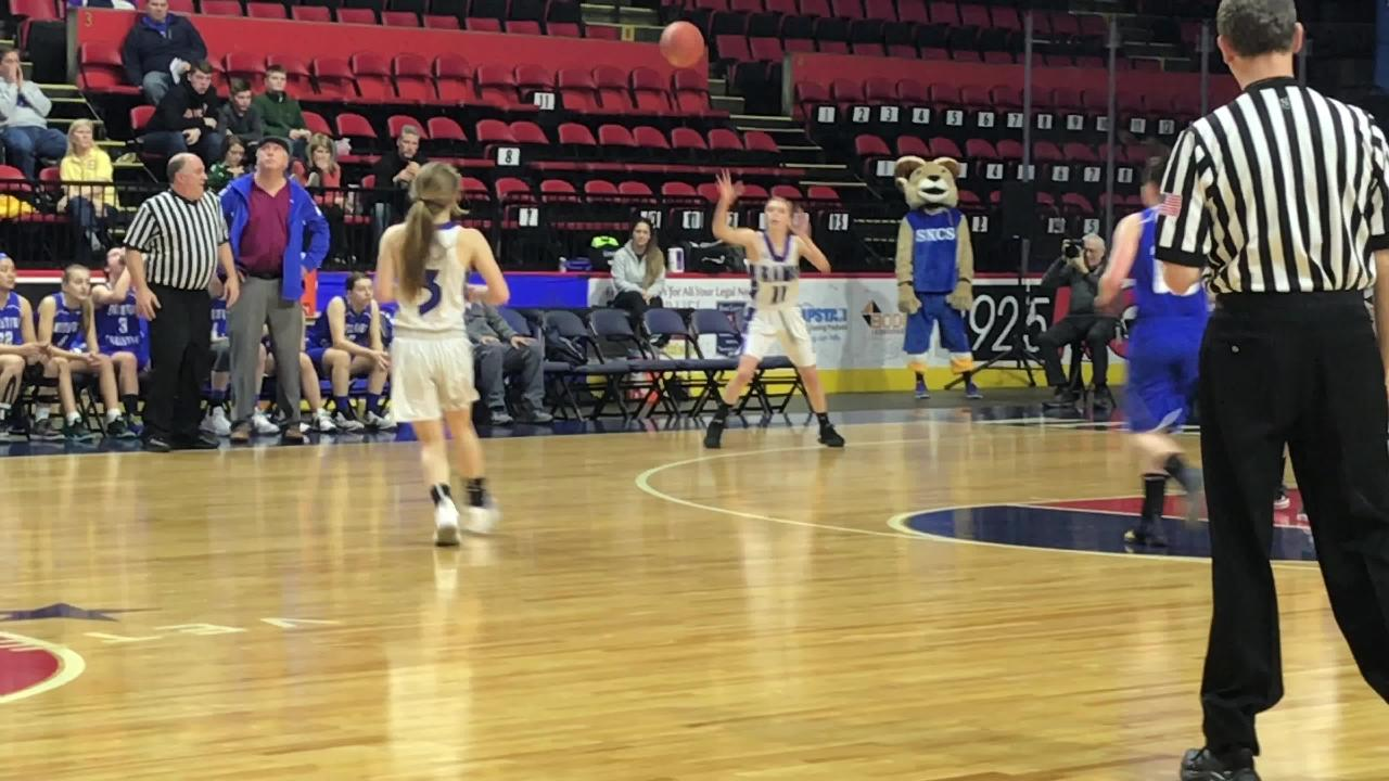 South Kortright and Smithtown Christian play in the first half of Sunday's Class D state quarterfinal at the Arena.