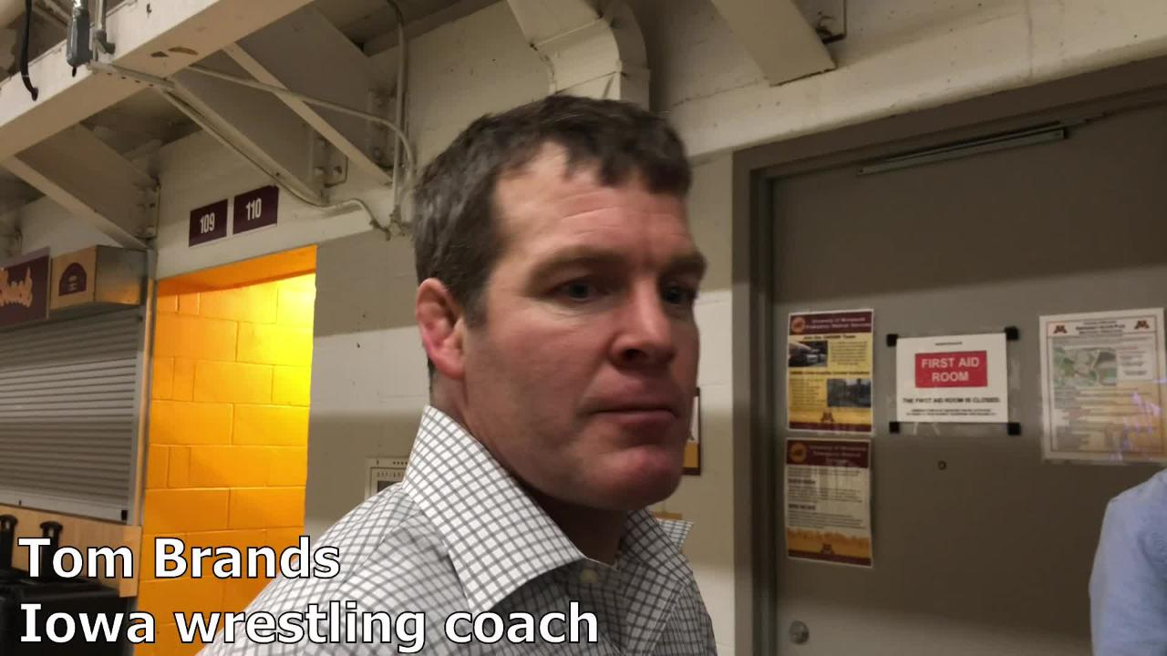 Iowa coach Tom Brands recaps the Hawkeyes' third-place finish at the Big Ten Championships