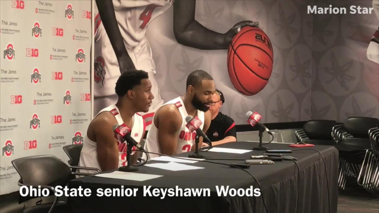 Ohio State basketball talks about its rally after trailing by 23 points and forcing overtime against No. 21 Wisconsin in a 73-67 overtime loss.