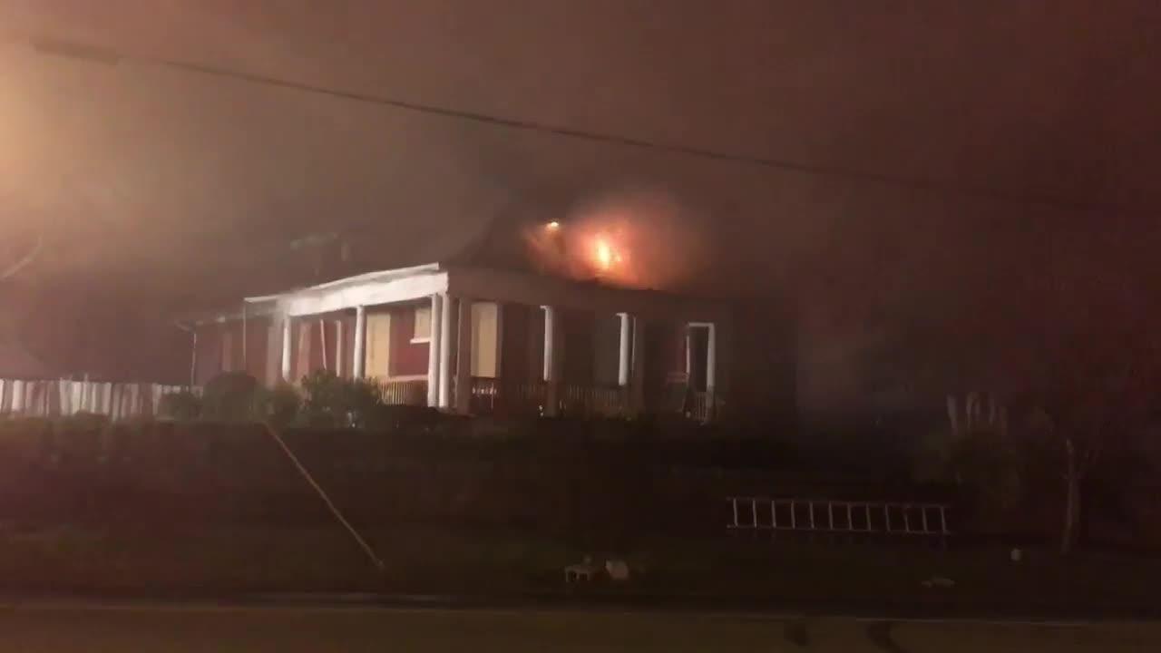 House fire on Buena Vista