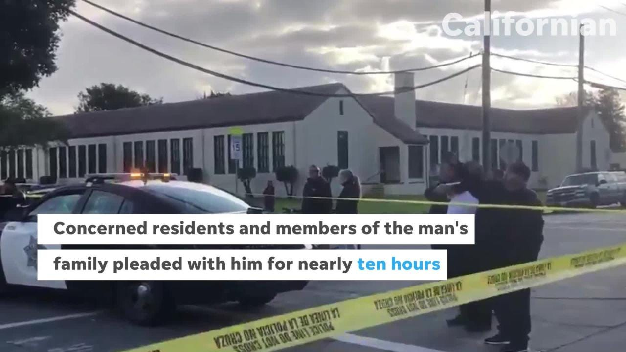 Salinas PD arrested a man after a standoff that lasted nearly ten hours while the man was cornered on a rooftop.