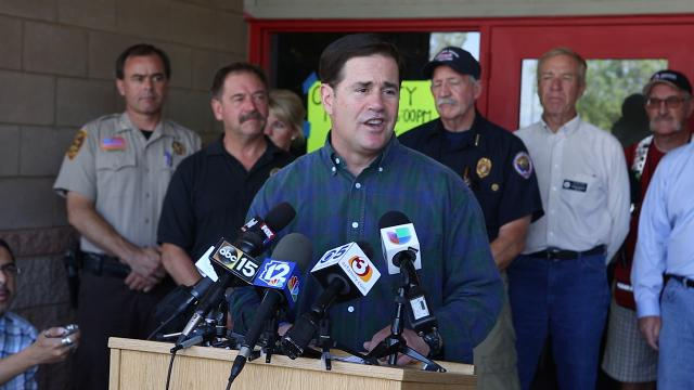 Arizona Gov. Doug Ducey talks about the Goodwin Fire