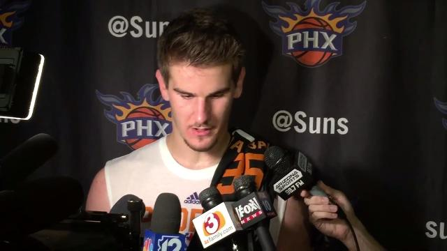Second-year Suns players Dragan Bender and Marquese Chriss offer some insight into what the Suns' expectations are heading into the NBA Summer League in Las Vegas after practice on Tuesday.  Richard Morin/azcentral sports