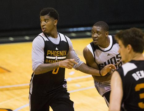 Phoenix Suns forward Marquese Chriss talks about feeling more comfortable ahead of his second summer league with a year under his belt after Wednesday's practice. Michael Chow/azcentral sports