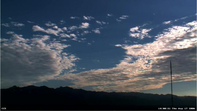 Clouds form over Mount Lemmon
