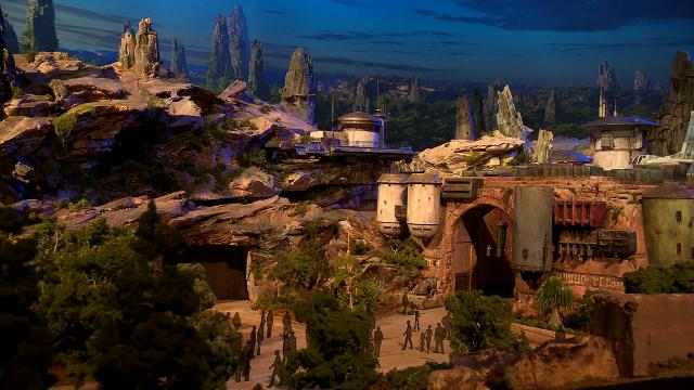 Disney unveils a detailed 3D model of  its new Star Wars-themed land opening in 2019.