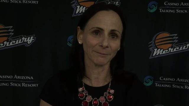 Mercury coach Sandy Brondello and guard Diana Taurasi on Brittney Griner's apparent knee injury in loss to Minnesota